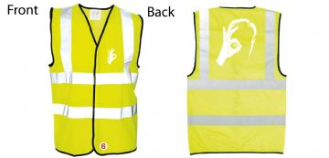 Hi-Vis Waistcoat Face Be Seeing you Simply Loveleh Brotherhood